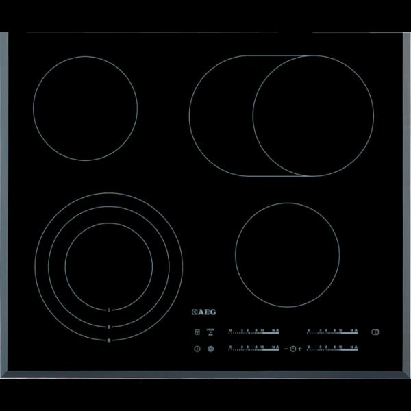 AEG HK654070FB 60 cm, Direct Control, 4 elektronische Automatikkochstellen, STOP & GO-Funktion, Opti