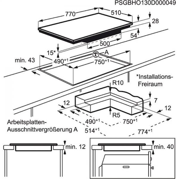 aeg hk8542h0xb 80 cm 4 fach induktion mit direct control hob hood funktion stop go funktion. Black Bedroom Furniture Sets. Home Design Ideas