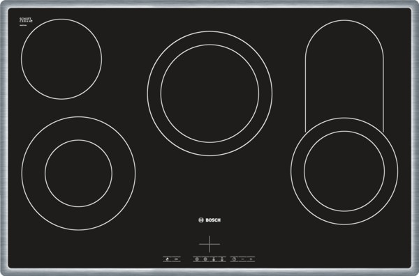Bosch NKC845F17 Edelstahl umlaufender Rahmen Elektro-Kochmulde