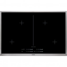 AEG HK854400XB 80 cm, 4-fach Induktion MaxiSense (4x21cm), Elektronikfeature, Direct Control, Edelst
