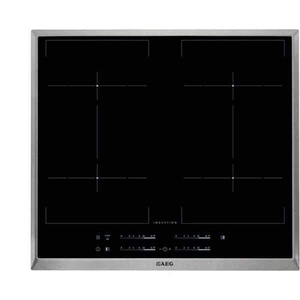 AEG HKE64450XB 60 cm, 4-fach Induktion MaxiSense Plus (4x21cm), BridgeFunktion, Elektronikfeature, D