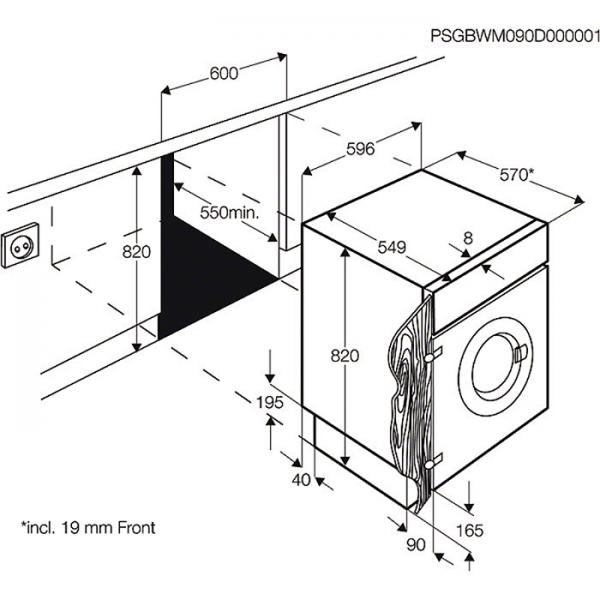 aeg l61470wdbi vollintegrierbarer einbau waschtrockner 7. Black Bedroom Furniture Sets. Home Design Ideas