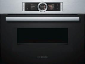 Bosch CMG676BS1 Kompackt-Einbaubackofen mit Mikrowelle