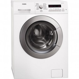 AEG L73260VSL 6 kg, Tür, Drehwähler und Tasten silber, großes LC-Display, Restlaufzeitanzeige, Start