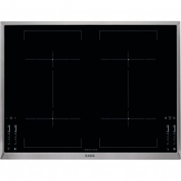 AEG HKM76400XB 70 cm, 4-fach Induktion, MaxiSense®Plus Induktionskochfeld, Bridge-Funktion, STOP & G