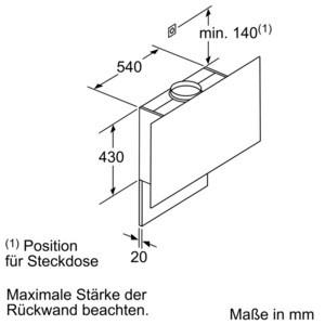 bosch dwf67km60 wandesse 60cm l fterleistung 710m h bosch wand essen wand essen. Black Bedroom Furniture Sets. Home Design Ideas