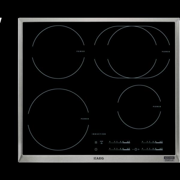 AEG HD542506XB 60 cm, 4-fach INDUKTION mit Direct-Control, STOP & GO-Funktion, OptiHeat Control