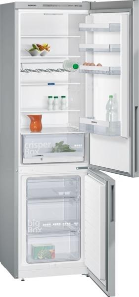 Siemens KG39VVL31 Kühl-Gefrier-Kombination Türen Edelstahl-Look, Seitenwände silberfarben I