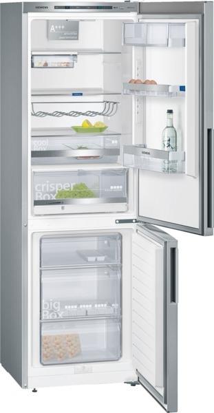 Siemens KG36EBL41 Kühl-Gefrier-Kombination Türen Edelstahl-Look, Seitenwände silberfarben