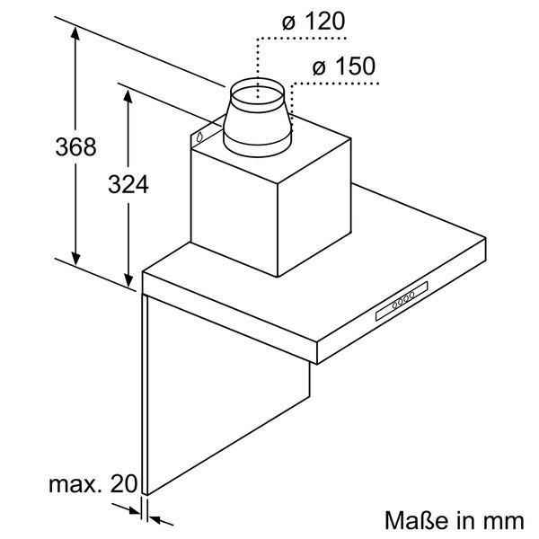 siemens lc64ba521 edelstahl 60 cm wand esse haubenbreite 600mm siemens wand essen wand. Black Bedroom Furniture Sets. Home Design Ideas