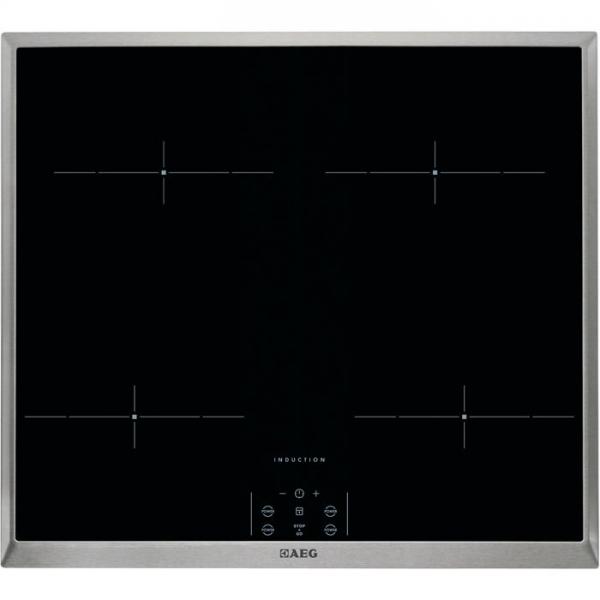 AEG HEM63400XB 60 cm, 4-fach Induktion, MaxiSense®Plus Induktionskochfeld, Power-Funktion, STOP&GO-F