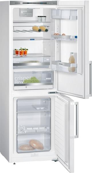 Siemens KG36EAW43 Kühl-Gefrier-Kombination Türen weiß, Seitenwände weiß IQ500