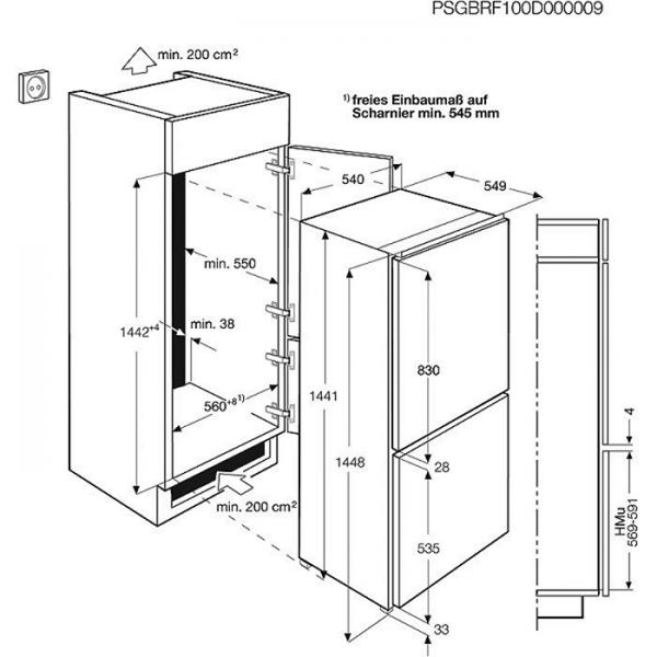 Aeg Scs51400s1 145er Nische Integrierbar A Schleppturtechnik