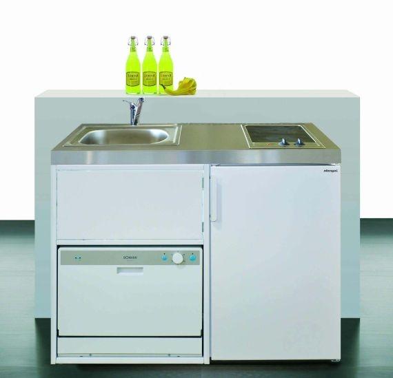 Stengel Küchen MKGS 110 mit Geschirrspüler und Glaskochfeld rech