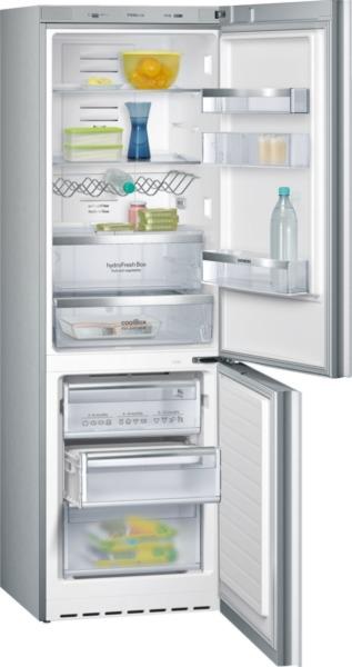 Siemens KG36NSW31 Kühl-Gefrier-Kombination, noFrost Glastüren weiß IQ700