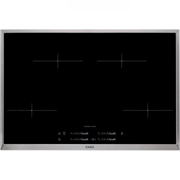 AEG HK854401XB 80 cm, 4-fach INDUKTION, Hob²Hood-Funktion, STOP&GO-Funktion, automatische Topferkenn