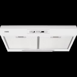 AEG DU4161-W Unterbauhaube, 60 cm, Schiebeschalter, Metall-Fettfilter, Halogenbeleuchtung, Montage u